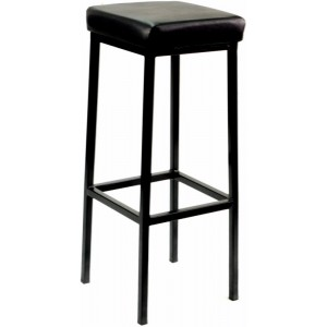 General Purpose Bar Stool,Black Seat, Black Frame